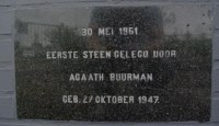 First foundation stone, Kampen (NL), 1961
